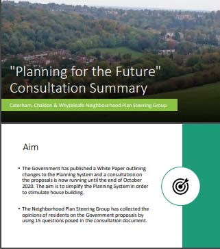 "Local response to ""Planning for the Future"" White Paper"